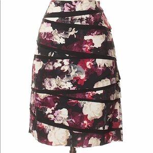 White House Black Market Floral Skirt